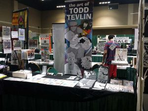 Todds Convention Table Setup